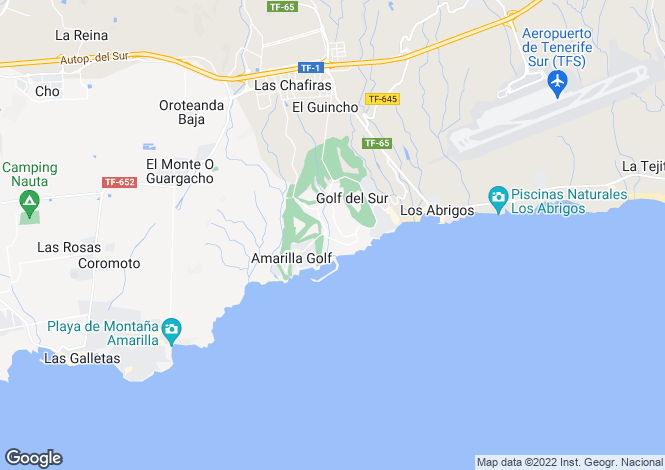 Map for Winter Gardens, Golf Del Sur, Tenerife, Spain