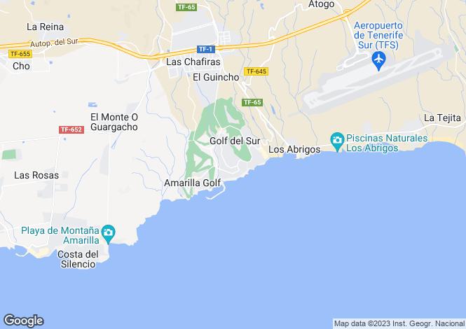 Map for Golf San Miguel, Golf Del Sur, Tenerife, Spain
