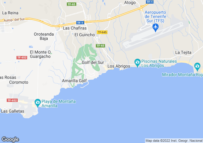 Map for San Miguel Village, Golf Del Sur, Tenerife, Spain