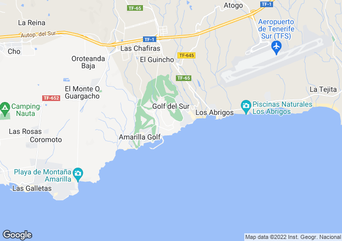 Map for Ocean Golf and Country Club II, Golf Del Sur, Tenerife, Spain