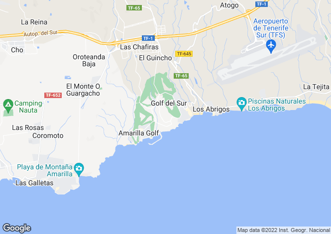 Map for Canary Islands, Tenerife, Golf del Sur