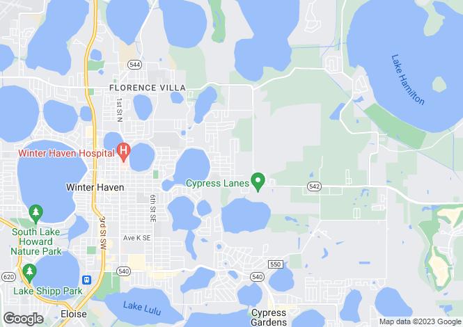 Map for USA - Florida, Polk County, Winter Haven