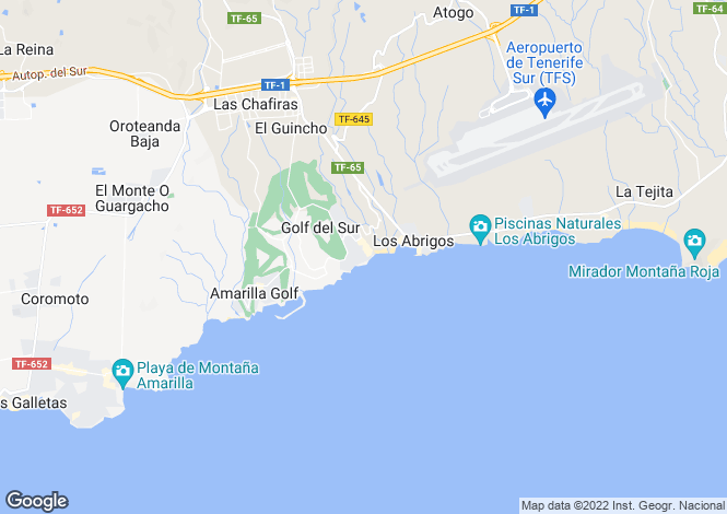 Map for Golf Del Sur, Tenerife, Canary Islands