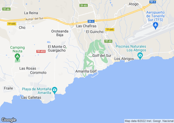 Map for Palm Gardens, Amarilla Golf, Tenerife, Spain