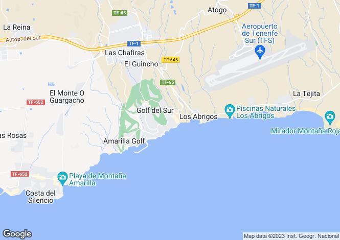 Map for Terrazas de la Paz, Golf Del Sur, Tenerife, Spain