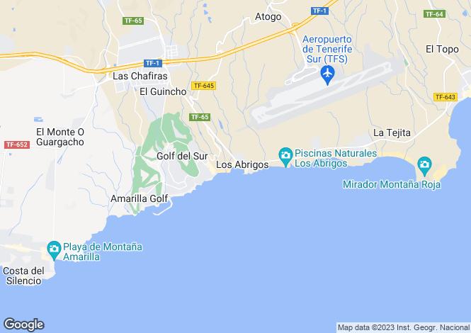 Map for Los Abrigos, Tenerife, Canary Islands