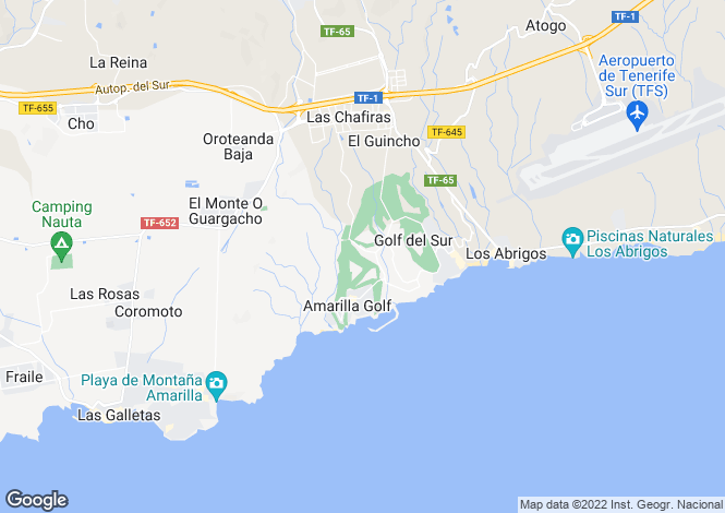 Map for La Quinta Heights, Amarilla Golf, Tenerife, Spain