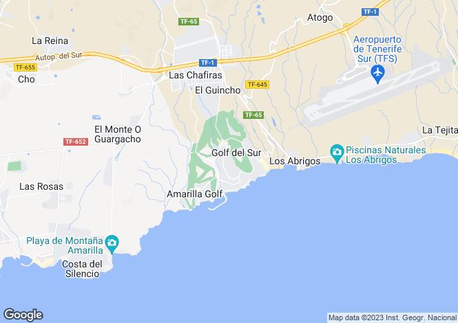 Map for Las Adelfas I, Golf Del Sur, Tenerife, Spain