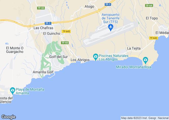 Map for Canary Islands, Tenerife, Los Abrigos