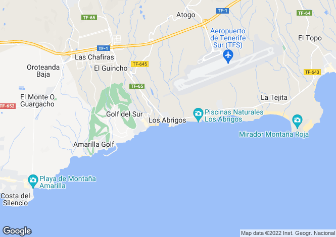 Map for Los Abrigos, Tenerife, Spain