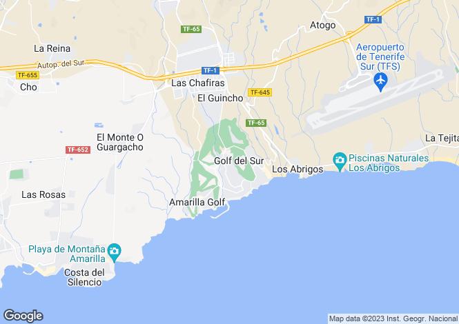Map for Las Adelfas II, Golf Del Sur, Tenerife, Spain