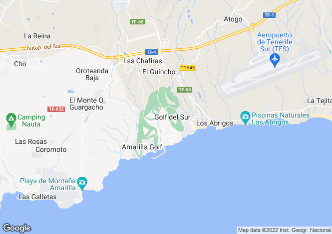 Map for Las Adelfas II, Golf Del Sur, Tenerife, Spain
