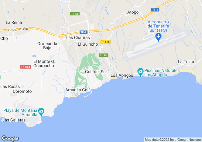 Map for Fairway Village, Golf Del Sur, Tenerife, Spain