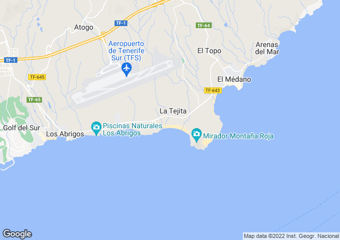 Map for El Medano, Tenerife, Canary Islands