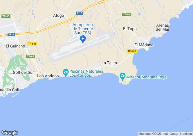 Map for Canary Islands, Tenerife, El Medano