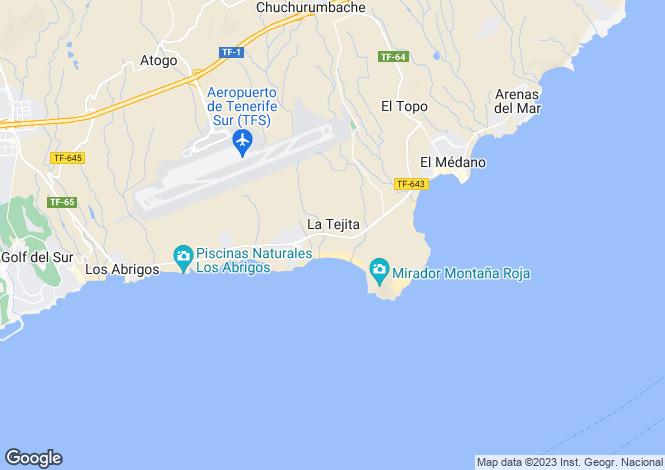 Map for El Medano, Tenerife, Canary Islands