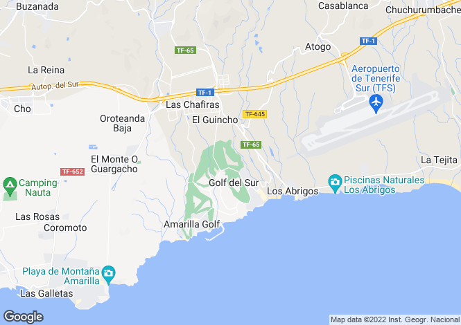 Map for San Andres, Golf Del Sur, Tenerife, Spain