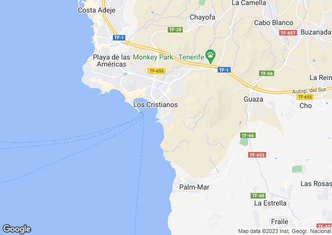 Map for El Rincón, Los Cristianos, Tenerife, Spain