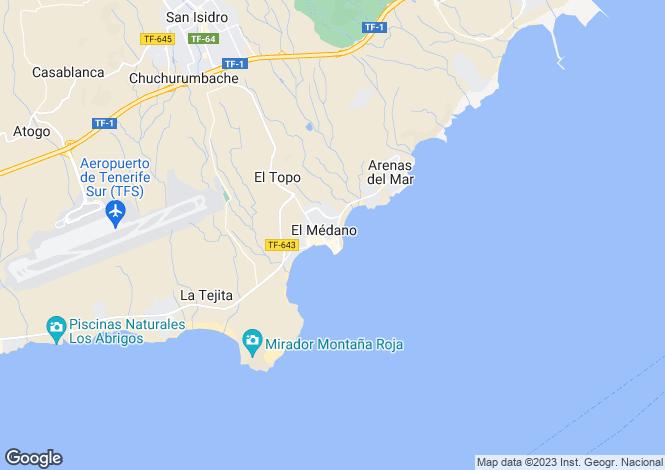 Map for El Medano, Tenerife, Spain