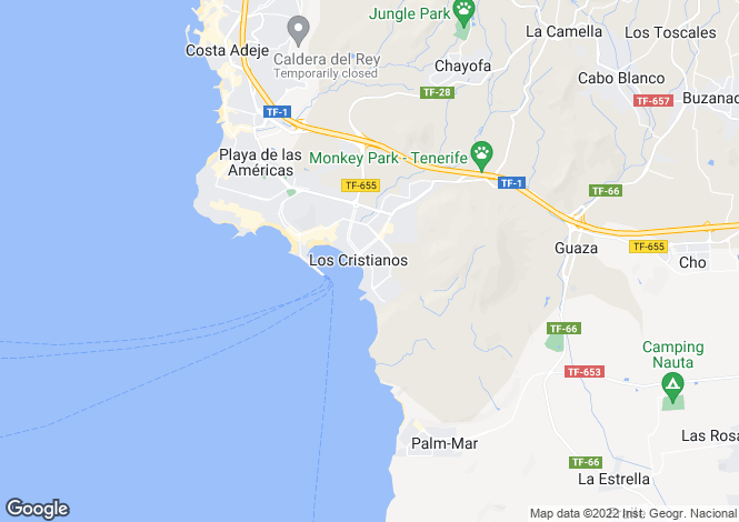 Map for Arona, Tenerife, Canary Islands
