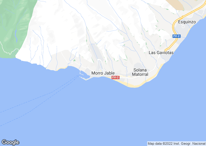 Map for Canary Islands, Fuerteventura, Morro Jable
