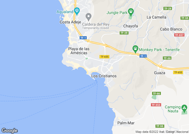 Map for El Verodal, Los Cristianos, Tenerife, Spain