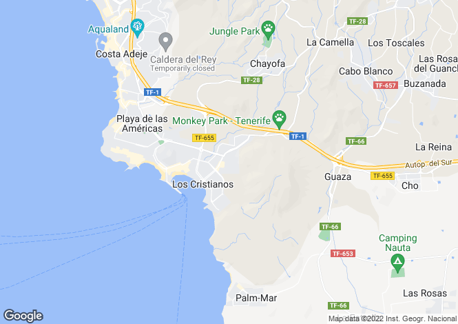 Map for Colina Park, Los Cristianos, Tenerife, Spain