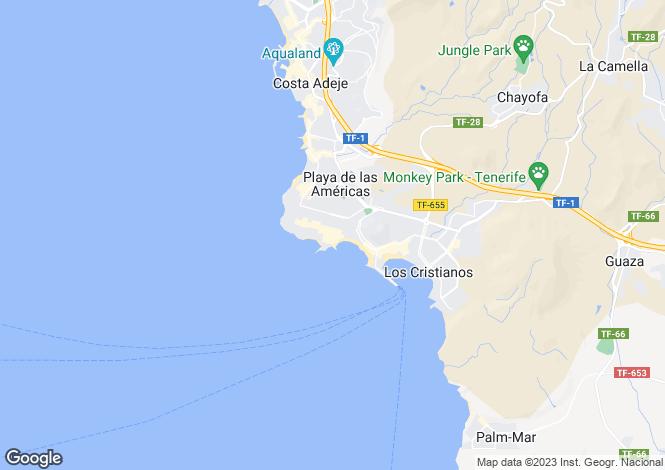 Map for Compostela Beach I, Playa De Las Americas, Tenerife, Spain