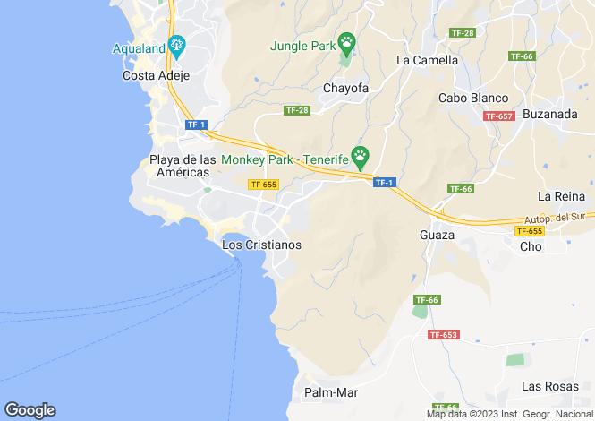 Map for Los Diamantes, Los Cristianos, Tenerife, Spain