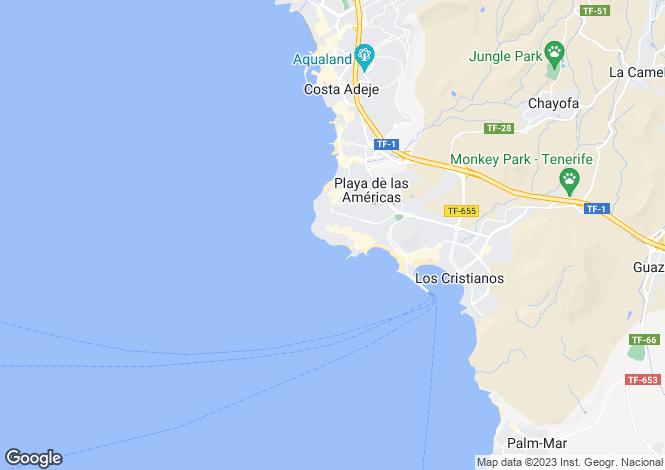 Map for Parque Santiago III, Playa De Las Americas, Tenerife, Spain