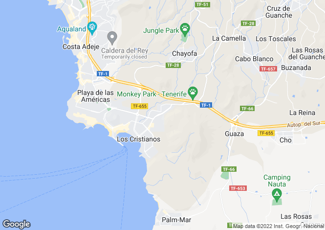 Map for Roque del Conde, Tenerife, Spain
