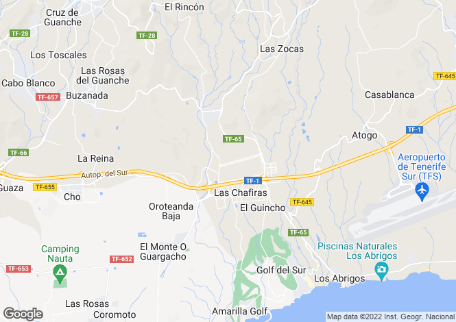 Map for Canary Islands, Tenerife, Las Chafiras