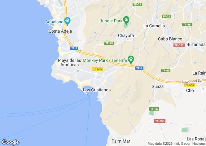 Map for Los Alisios, Los Cristianos, Tenerife, Spain