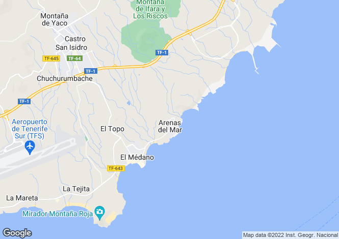 Map for El Medano, Tenerife, Spain