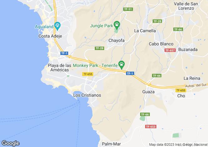 Map for Vista Hermosa, Los Cristianos, Tenerife, Spain