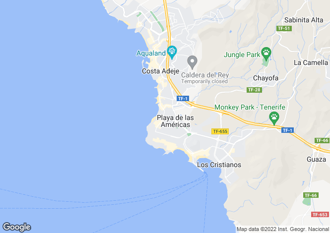 Map for Paraiso Royal, Playa De Las Americas, Tenerife, Spain