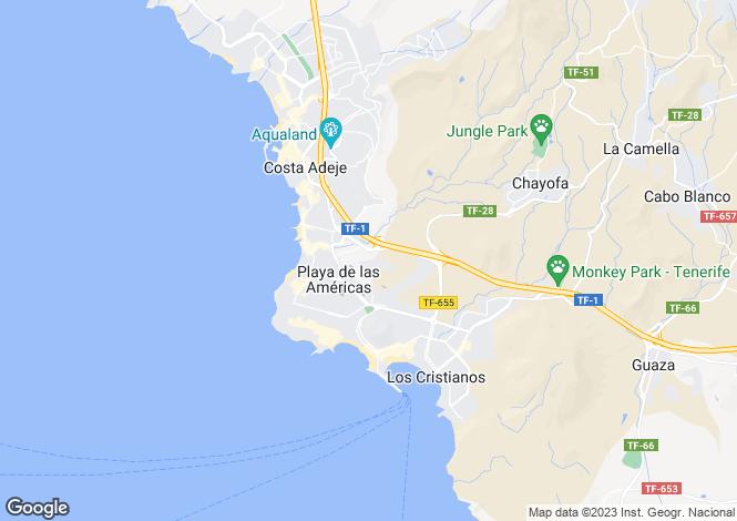 Map for Green Golf, Playa De Las Americas, Tenerife, Spain