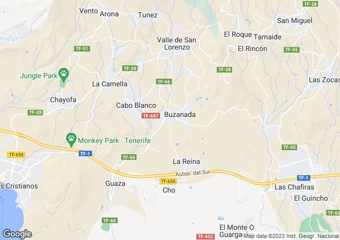 Map for Buzanada, Tenerife, Spain