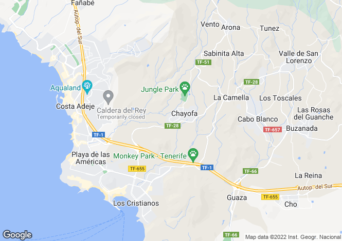 Map for Chayofa, �guilas del Teide, Tenerife, Spain