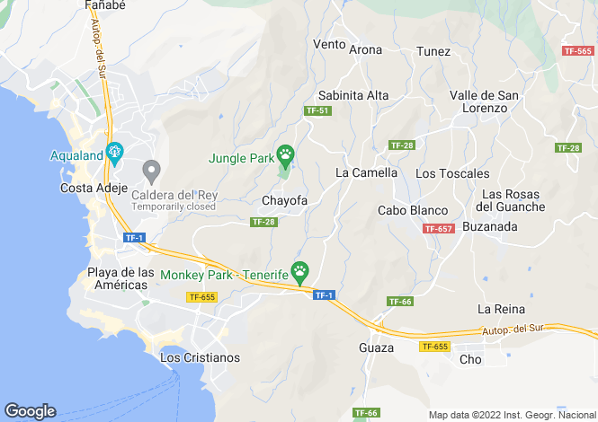 Map for Chayofa Golf and Country Club, Chayofa, Tenerife, Spain