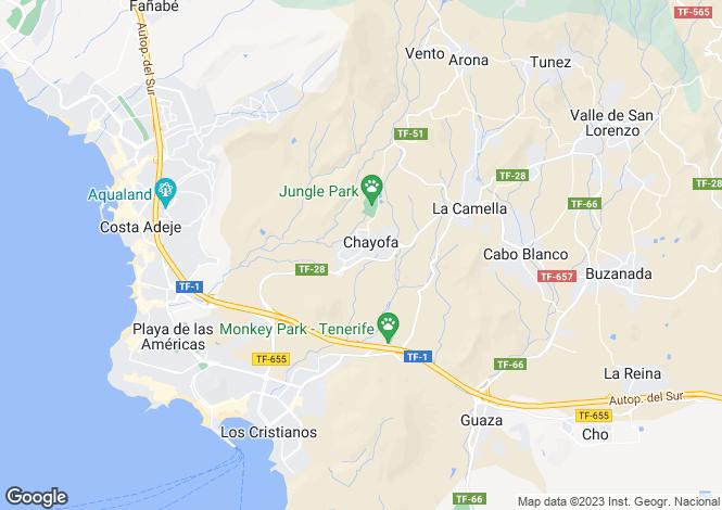 Map for Chayofa, Tenerife, Spain