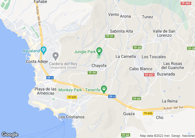 Map for Las Lomas I, Chayofa, Tenerife, Spain