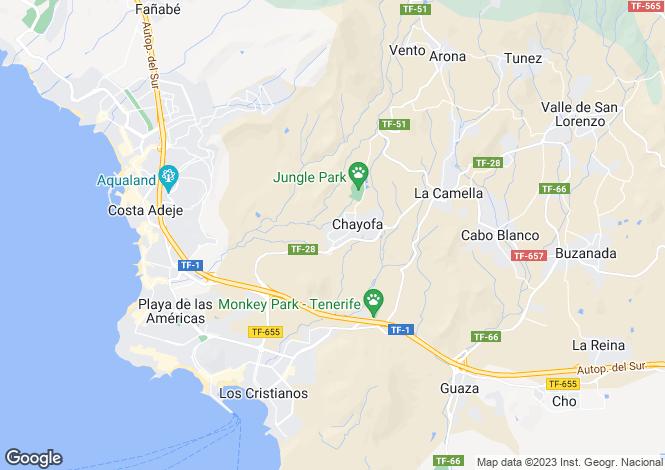 Map for La Finca, Chayofa, Tenerife, Spain
