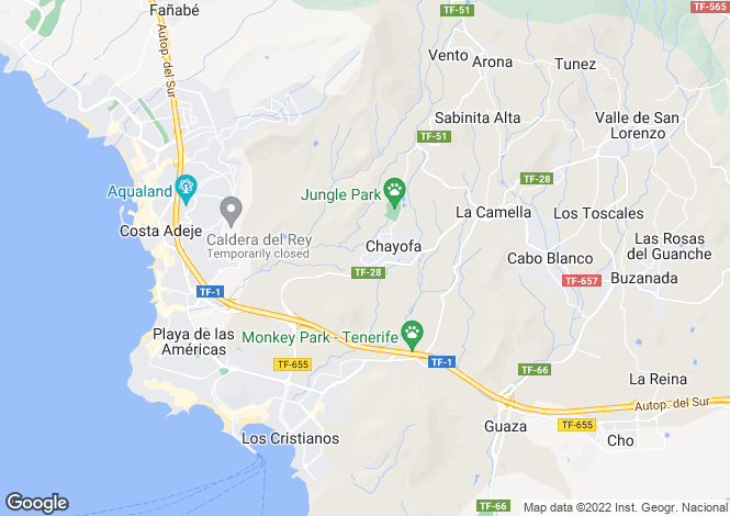 Map for La Finca, Chayofa, Tenerife, Spain