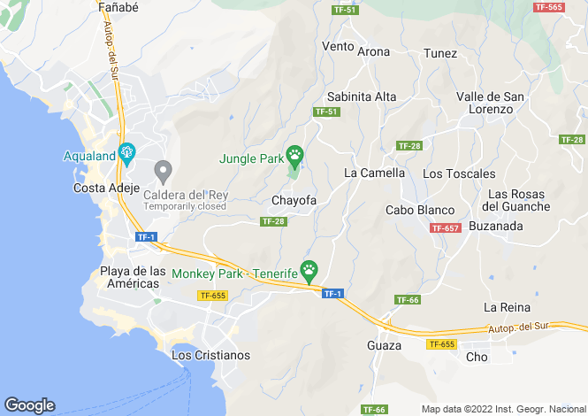 Map for Chayofa, Tenerife, Spain