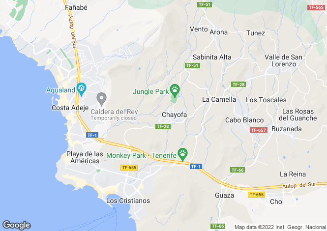 Map for Chayofa, Tenerife, Canary Islands