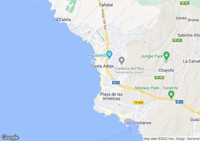 Map for Villamar, San Eugenio Bajo, Tenerife, Spain