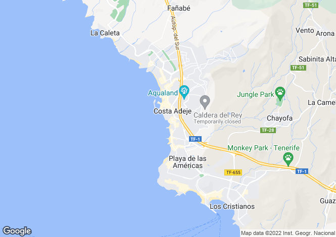 Map for San Eugenio Bajo, Tenerife, Canary Islands