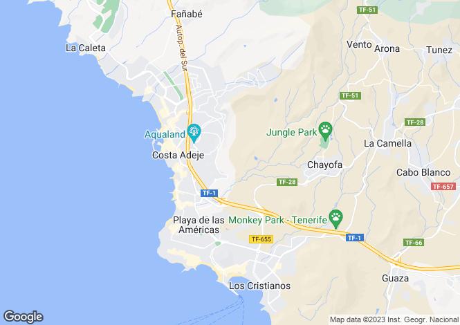 Map for Caldera Del Rey, Tenerife, Spain