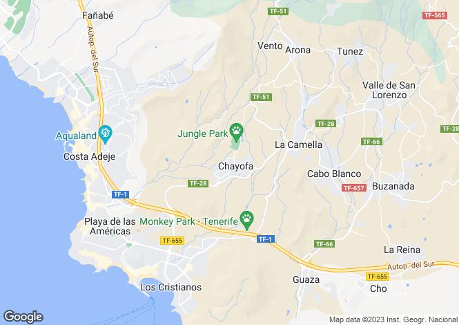 Map for Tinguafaya, Chayofa, Tenerife, Spain